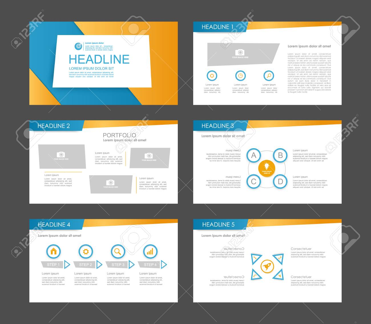 infographic elements for presentation templates. leaflet, annual, Report Presentation Template, Powerpoint templates