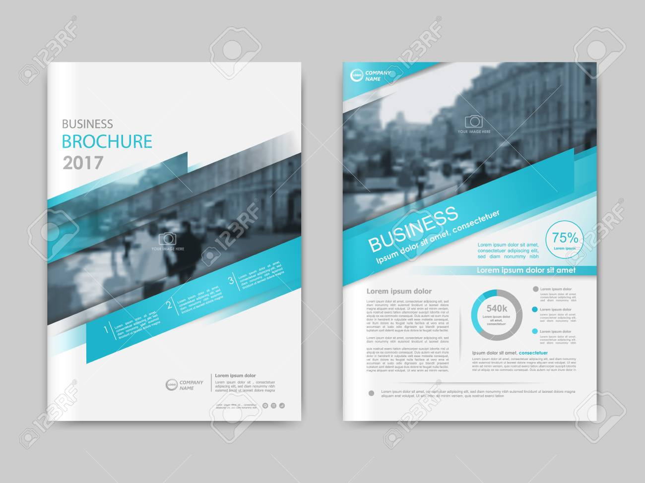 Annual report, presentation, brochure. Front page report , book cover layout design. Design layout template in A4 size . Abstract green transparent polygons cover templates - 68605271