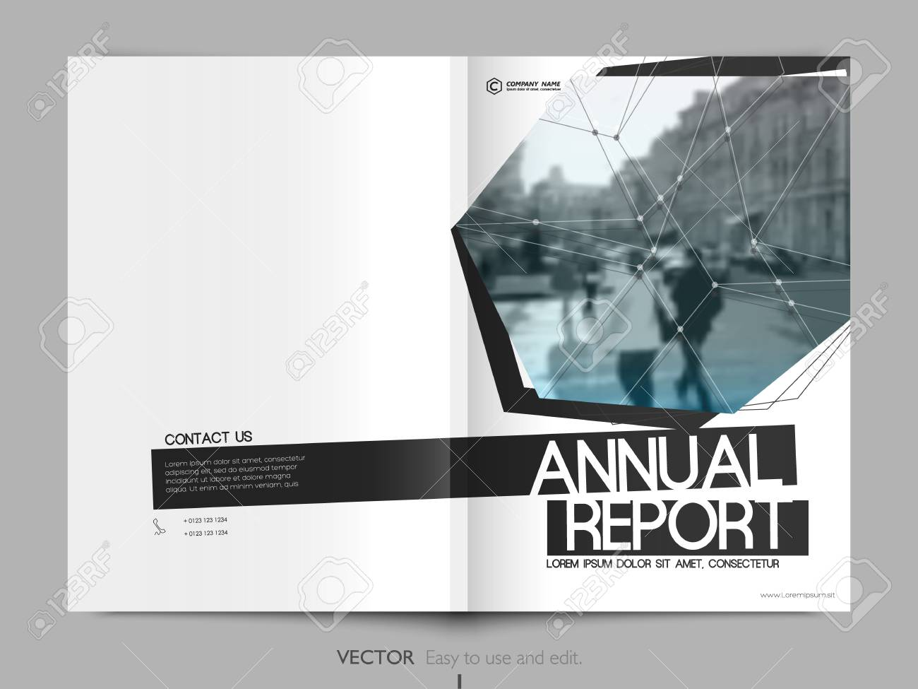 Minimalist Cover Design Layout For Annual Report Cover Book
