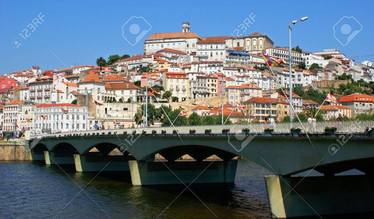 Coimbra cityscape across the Mondego river. - 14740266