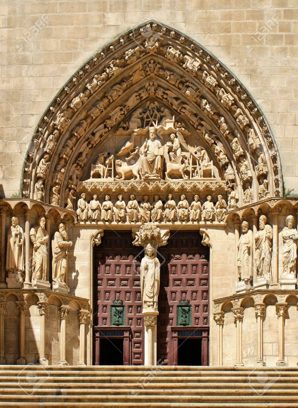 The Sarmental Door of Burgos Cathedral, Spain Stock Photo - 16294316
