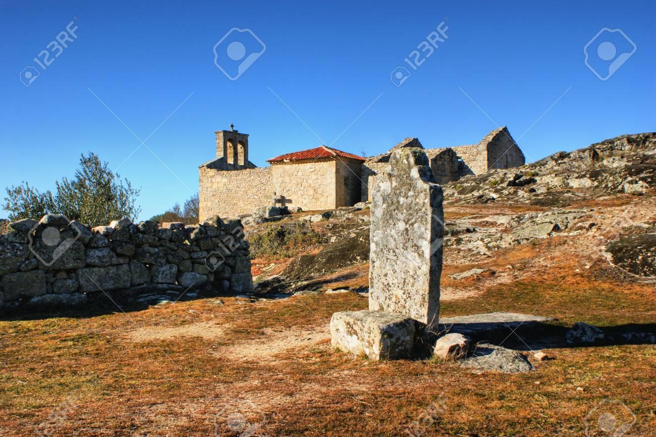Grave in historical village of Castelo Mendo, Portugal Stock Photo - 35362380