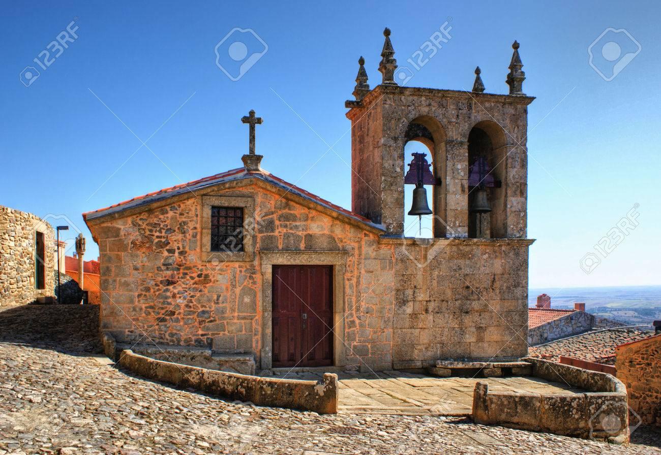 Rocamador church in Castelo Rodrigo, Portugal Stock Photo - 38615446