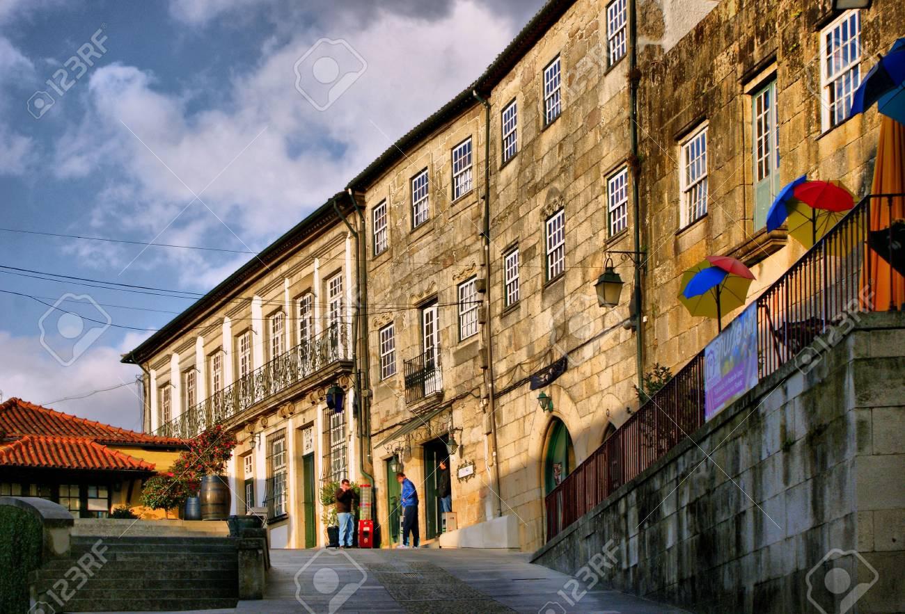 Old street in Ponte de Lima, Portugal - 41953545