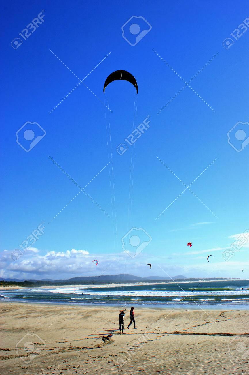 Kite surfing in Cabedelo beach in Viana do Castelo - 43422467