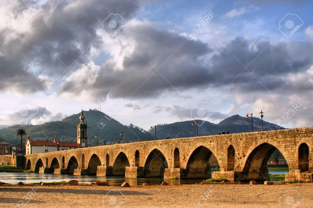 Roman and medieval bridge of Ponte de Lima in Portugal - 43424406