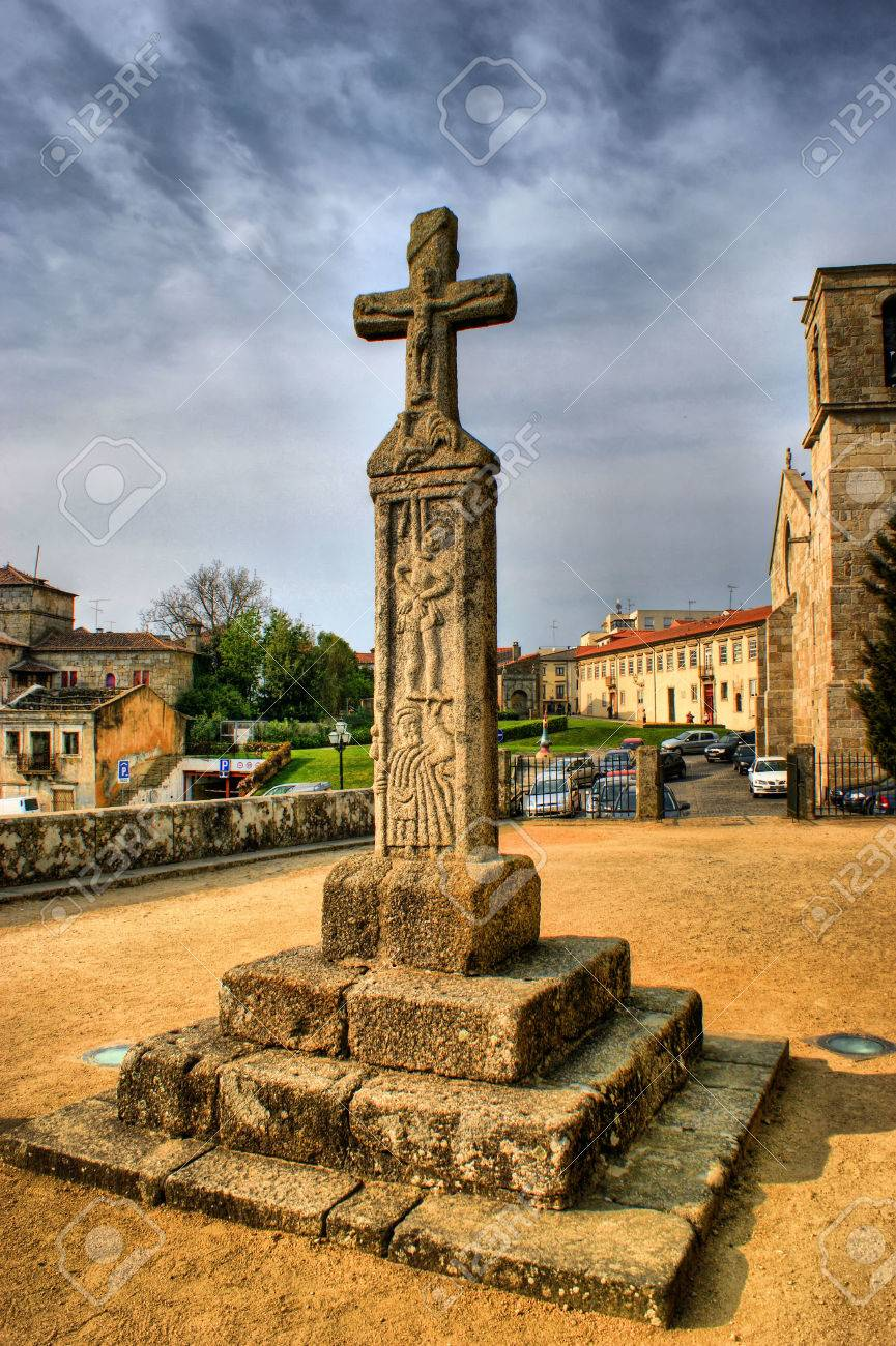 The Cross of the Lord of the Rooster in Barcelos, Portugal Stock Photo - 44537075