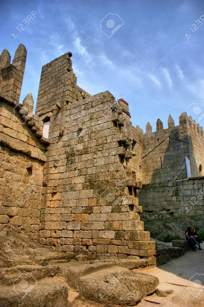 Guimaraes castle in the north of Portugal Stock Photo - 46255829