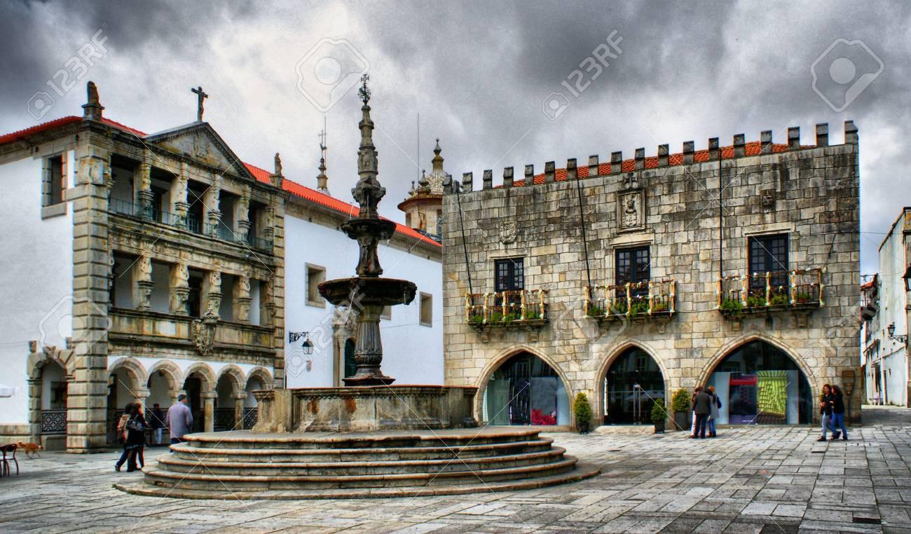 Praca da Republica in Viana do Castelo, Portugal Stock Photo - 47300804