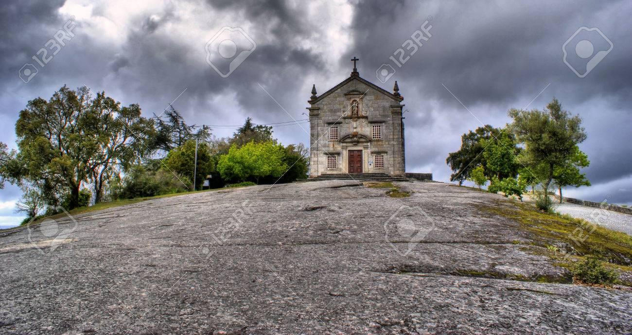 Our Lady of Pilar sanctuary in Povoa de Lanhoso, Portugal Stock Photo - 48118381