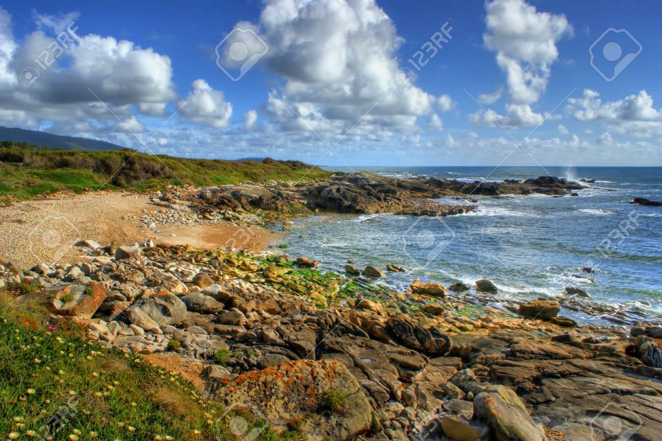 Rock beach in Vila Praia de Ancora, north of Portugal Stock Photo - 49584787