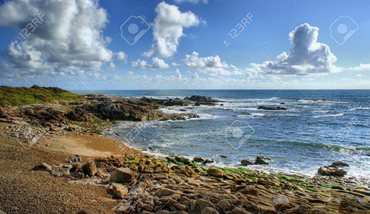 Rock beach in Vila Praia de Ancora, north of Portugal Stock Photo - 49584798