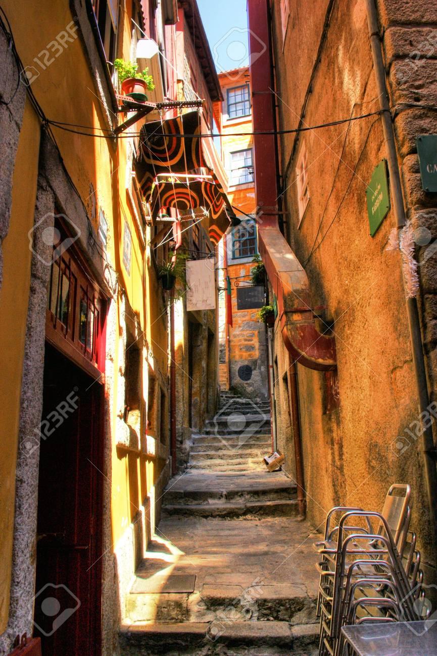 Old street in Porto, Portugal Stock Photo - 68994364