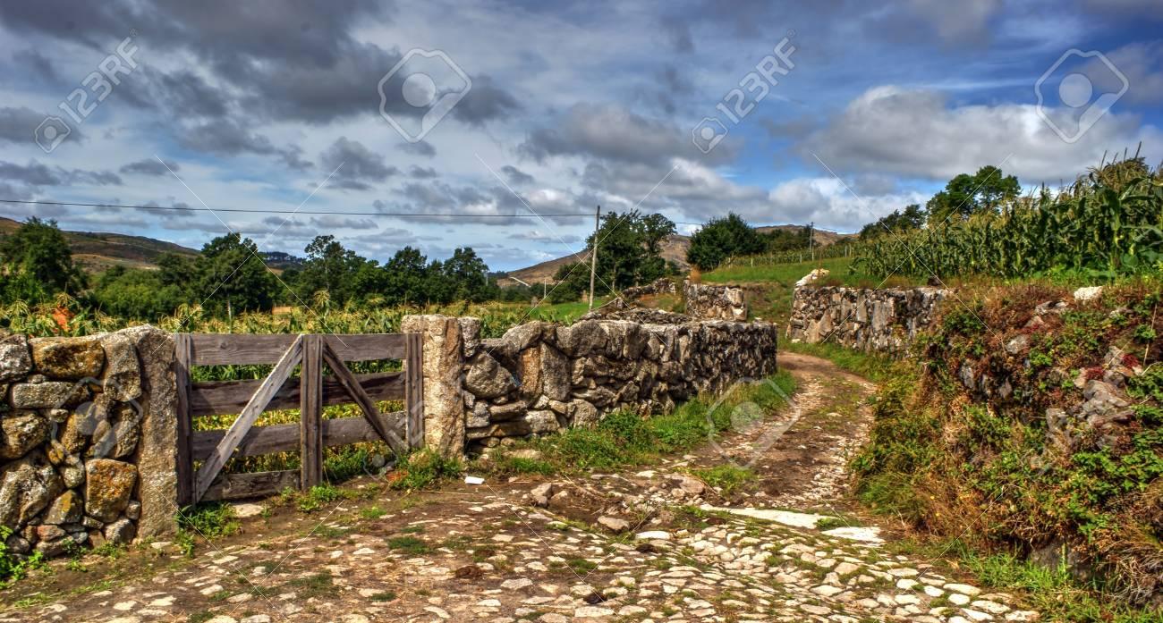 Rural village of Lamas de Olo in Vila Real, Portugal Stock Photo - 69985221