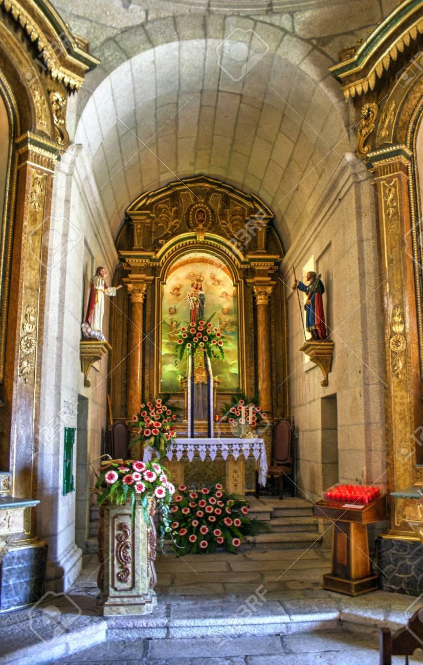 Baroque chapel of Senhora da Graca in Portugal Stock Photo - 71694800
