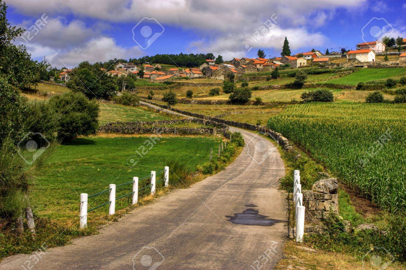 Rural village of Lamas de Olo in Vila Real, Portugal Stock Photo - 70804942