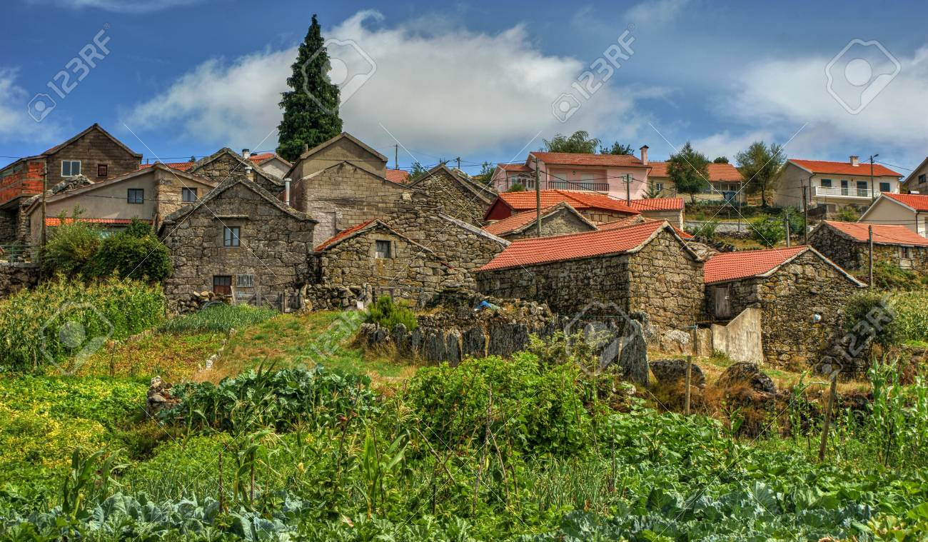 Rural village of Lamas de Olo in Vila Real, Portugal Stock Photo - 70656988