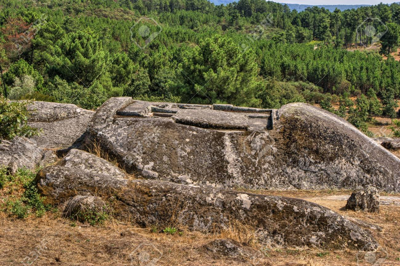 Ruins of Panoias, an ancient roman temple, Vila Real, Portugal Stock Photo - 70656990
