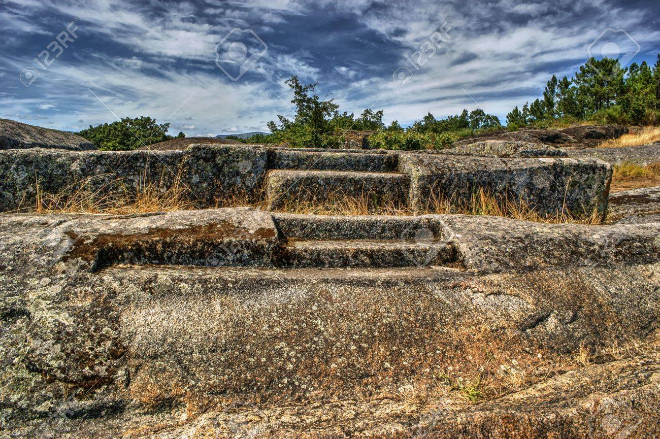 Ruins of Panoias, an ancient roman temple, Vila Real, Portugal Stock Photo - 70816982