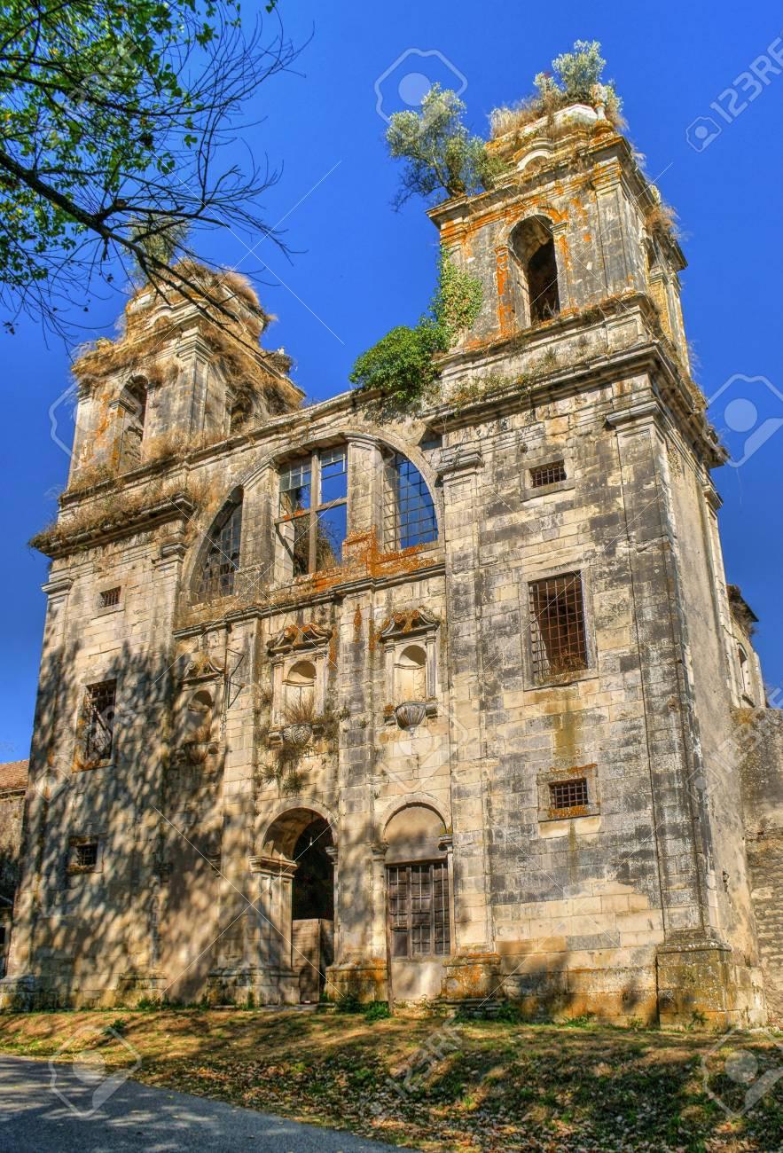 Ruined convent of Seiça, Figueira da Foz, Portugal Stock Photo - 73304310