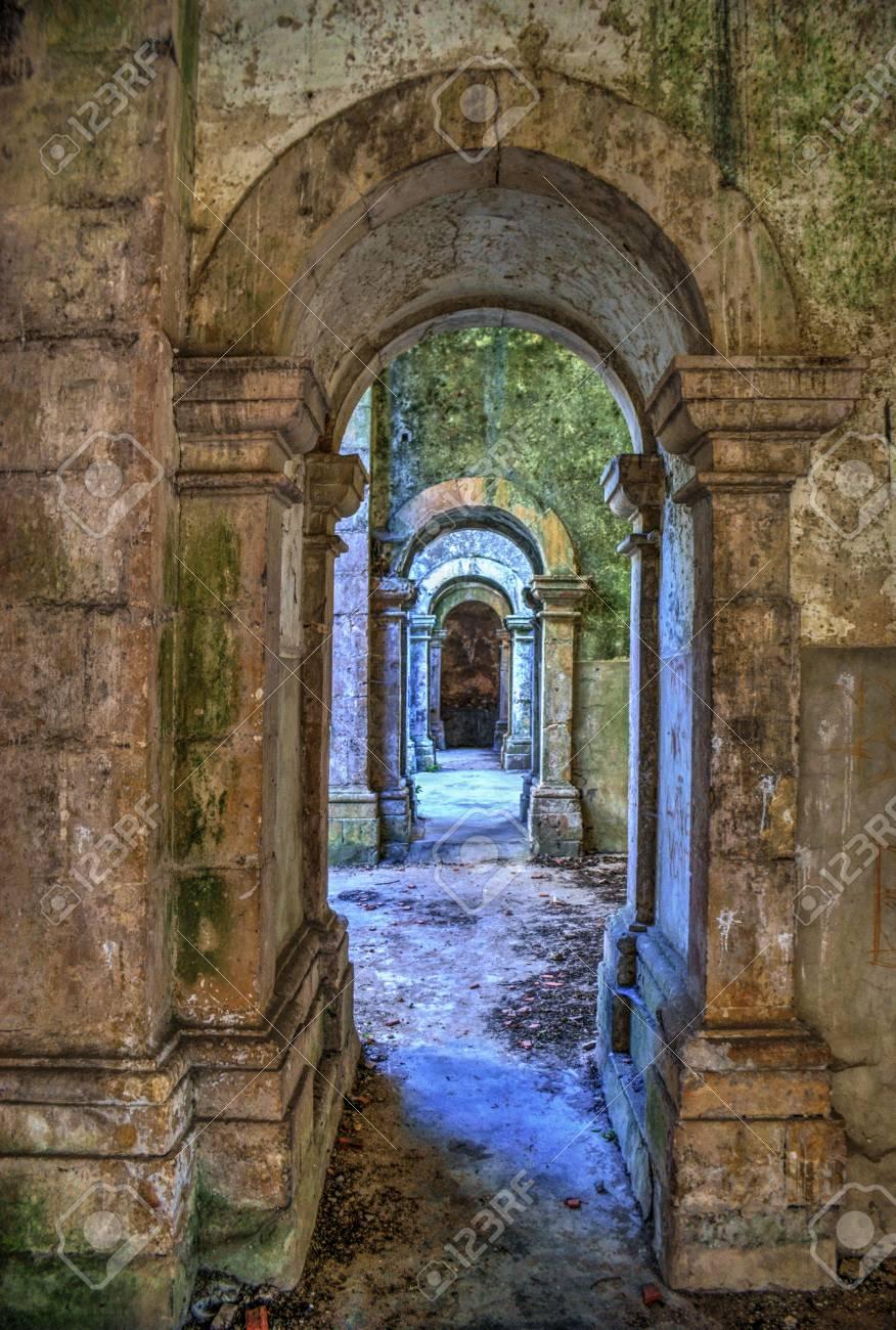 Ruined convent of Seiça, Figueira da Foz, Portugal Stock Photo - 73477219