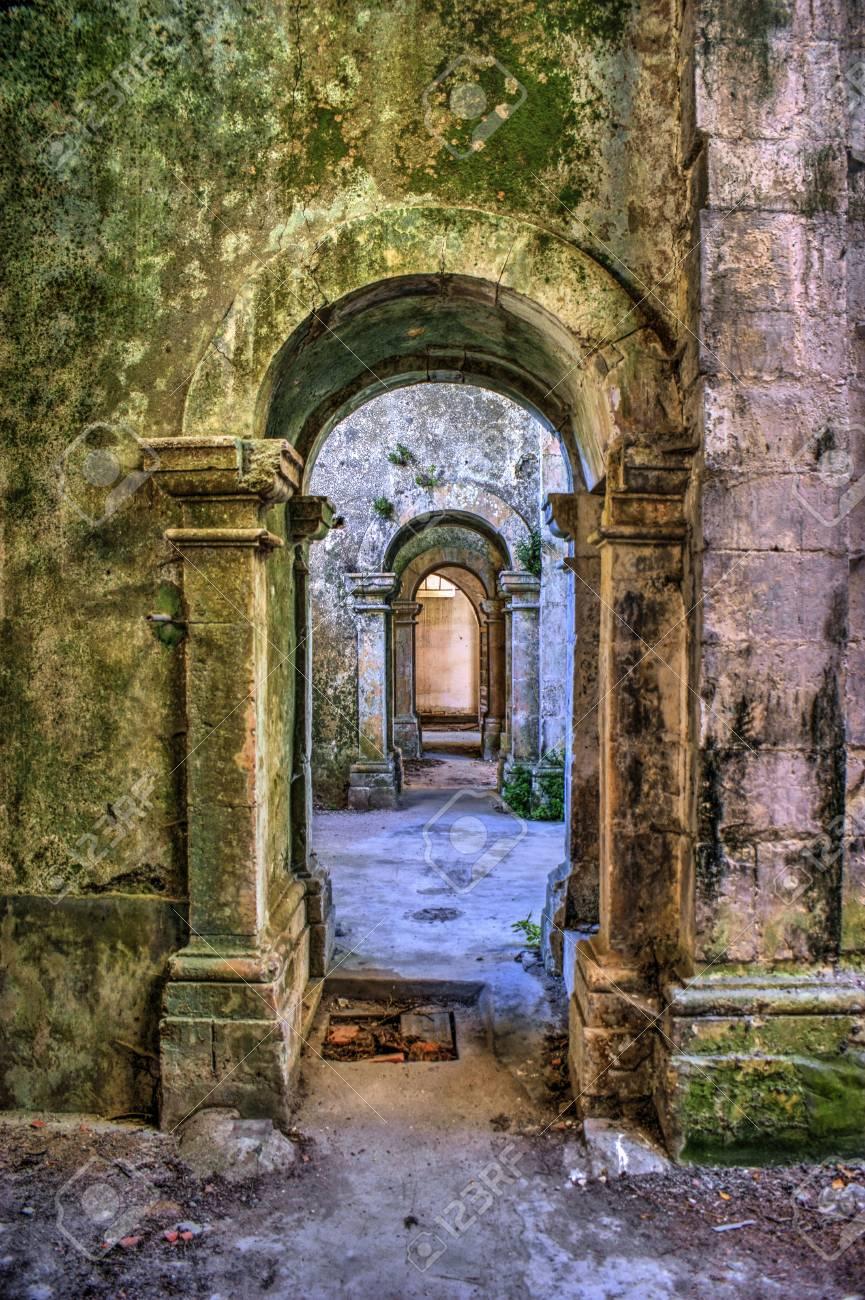 Ruined convent of Seiça, Figueira da Foz, Portugal Stock Photo - 73268186