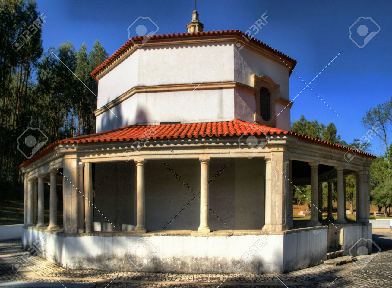 Chapel Our Lady of Seica, Figueira da Foz, Portugal Stock Photo - 78253277
