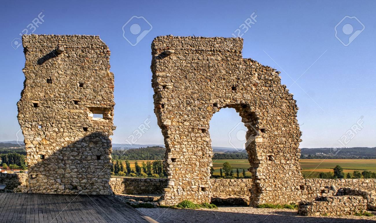 Ruined castle of Montemor-o-Velho, Portugal Stock Photo - 78250617