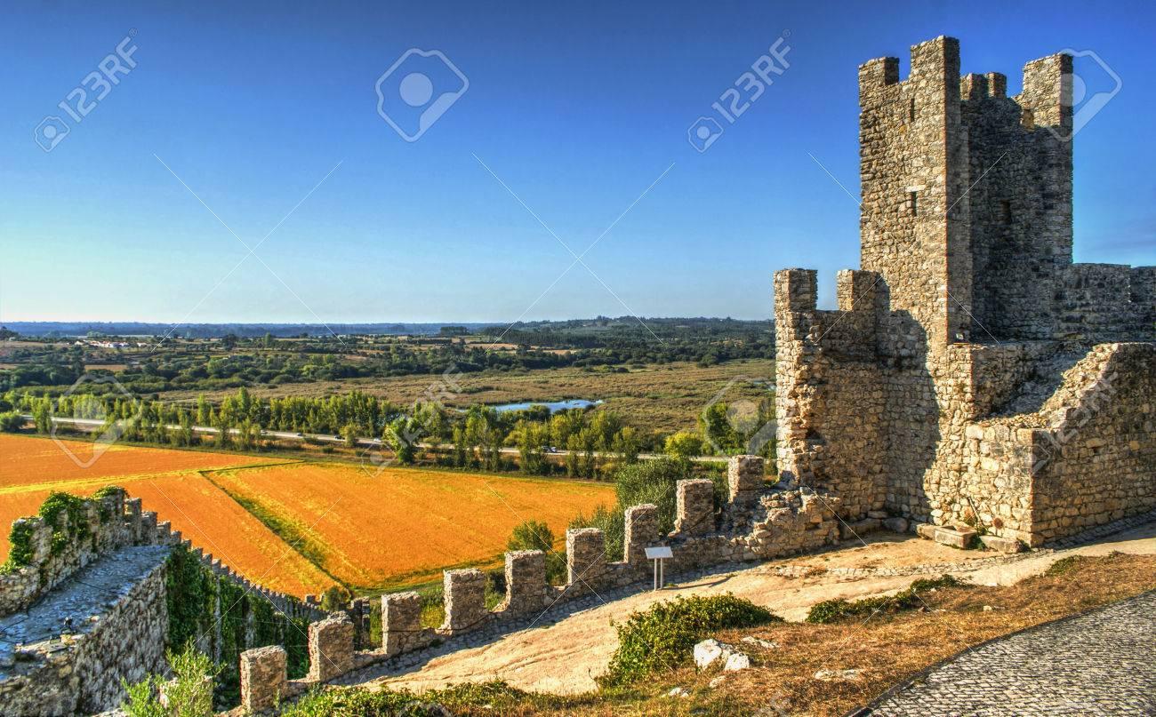 Ruined castle of Montemor-o-Velho, Portugal Stock Photo - 78334697