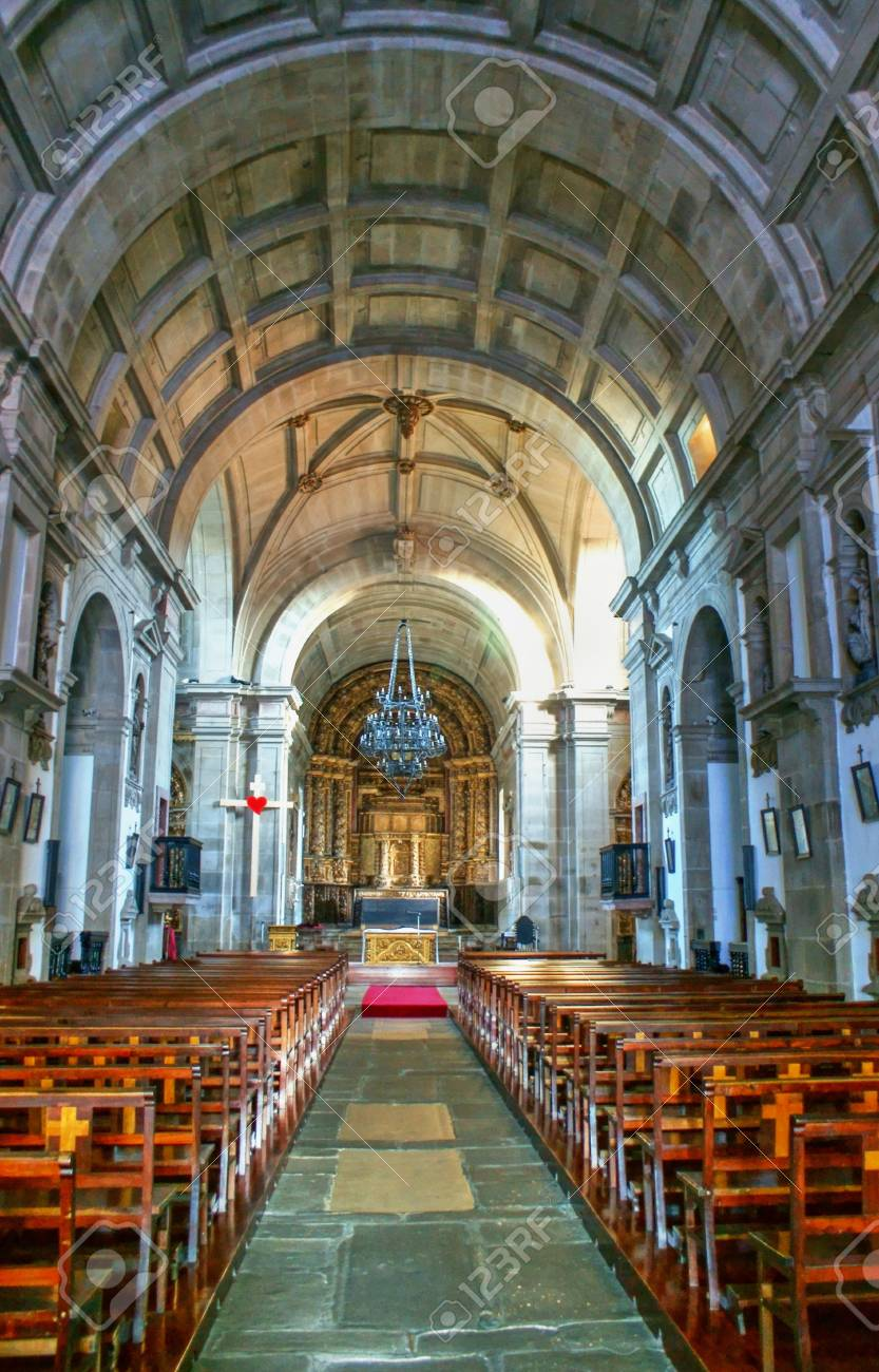 Inside Church of Loios in Santa Maria da Feira, Portugal