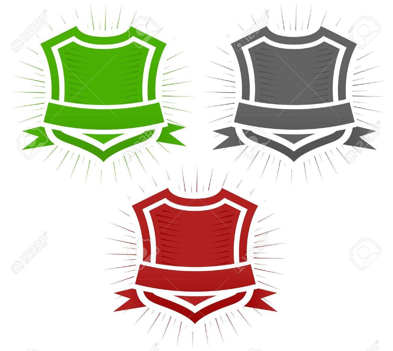 Classical Shield Illustration Set Stock Vector - 10827171