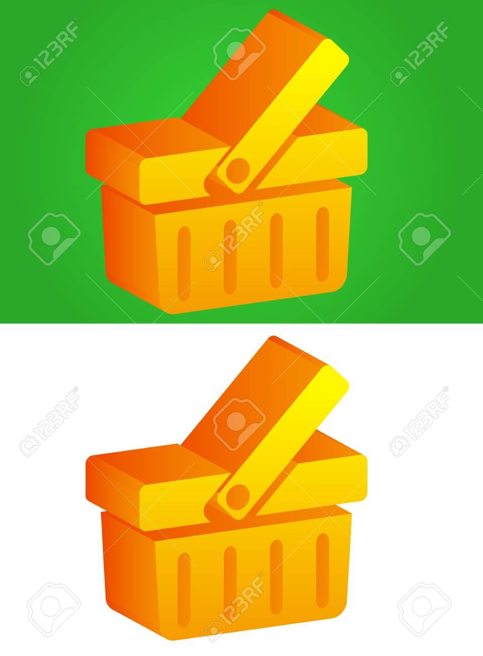 3D Basket Icon Stock Vector - 17308135