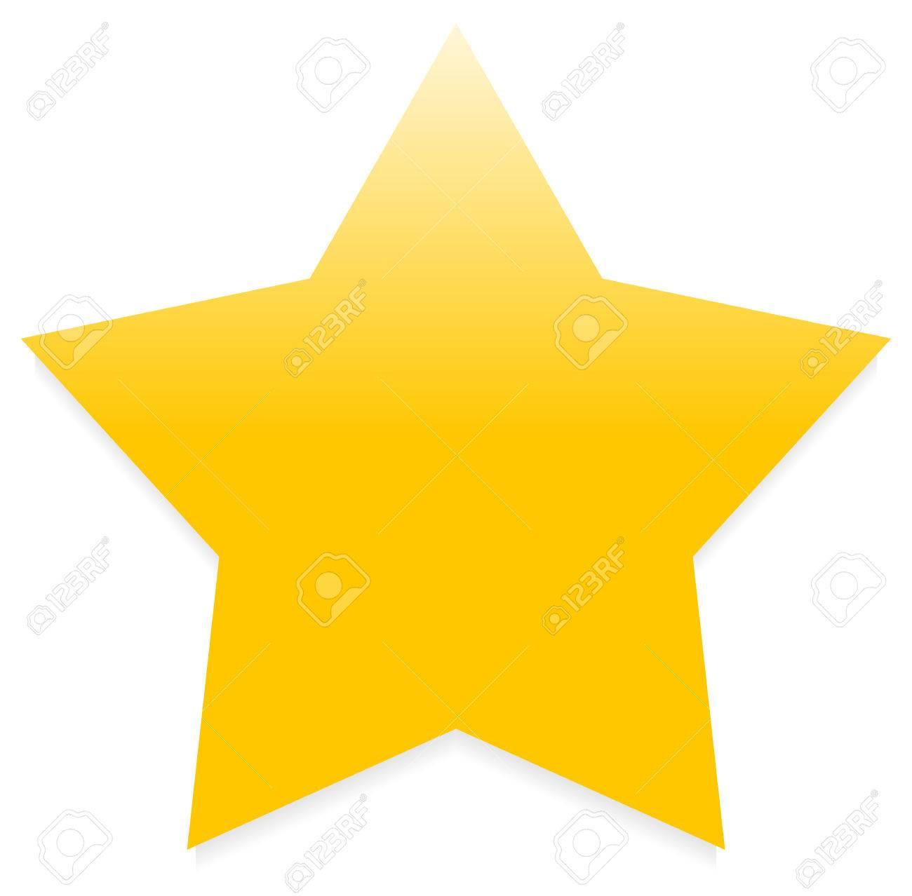 黄色星に分離白単にスター クリップ アート星のアイコンのイラスト素材