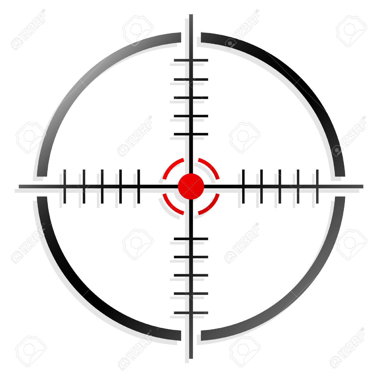 crosshair or reticle royalty free cliparts vectors and stock rh 123rf com crosshair vector free download vector crosshair target