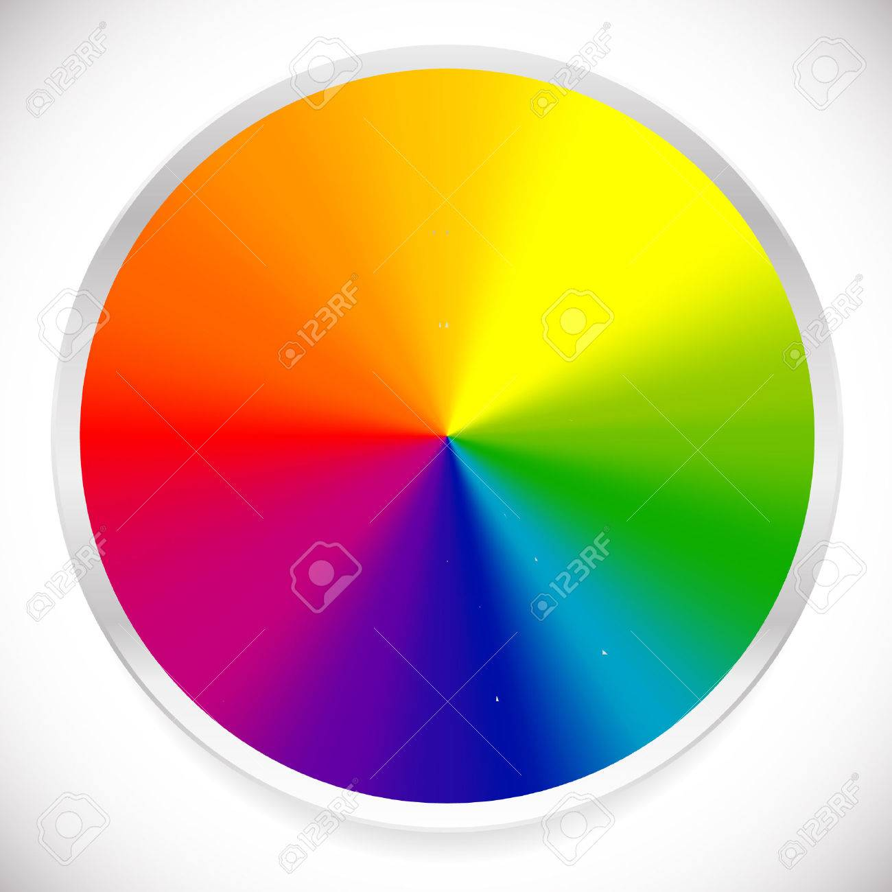 Color Wheel Circular Circle Palette With Vibrant Vivid Colors Stock Vector