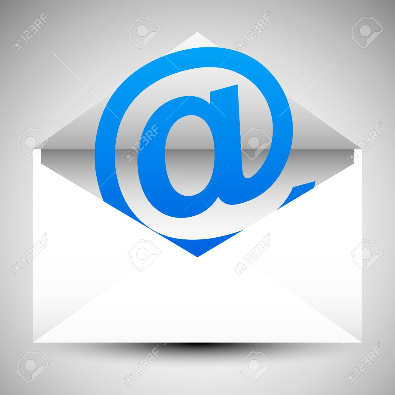 Envelope with at symbol. Email, letter, correspondance, support concepts - 32292276