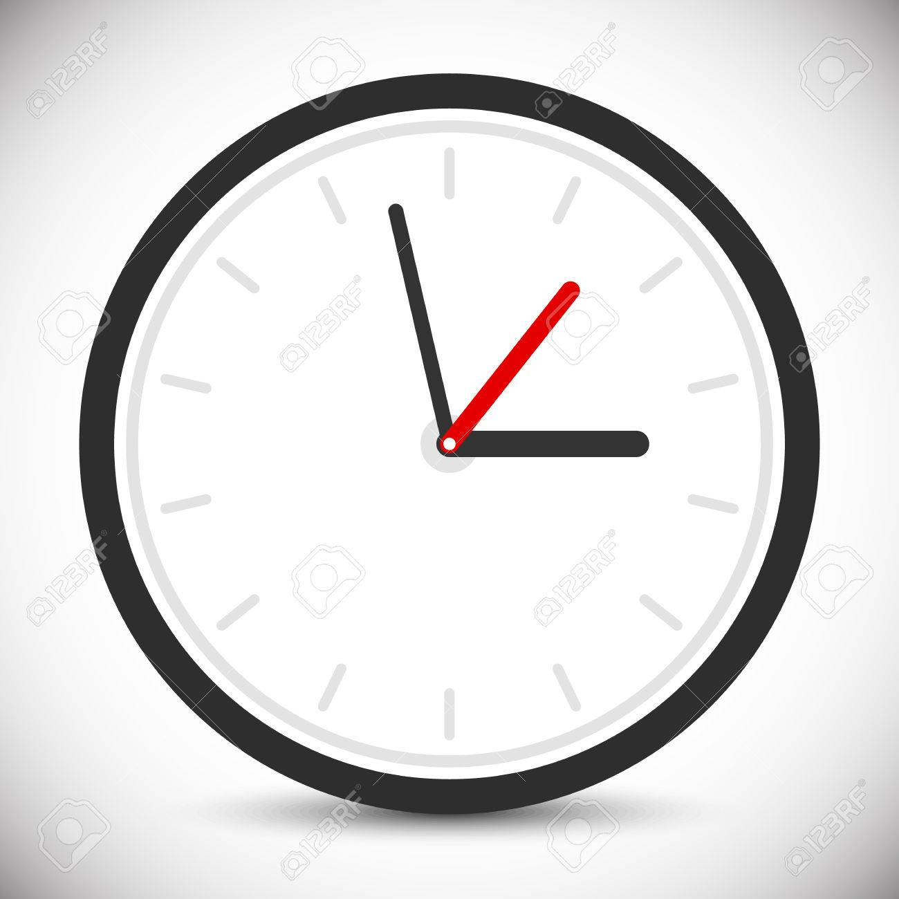 wall clock icon instrument of time clock sign symbol royalty free