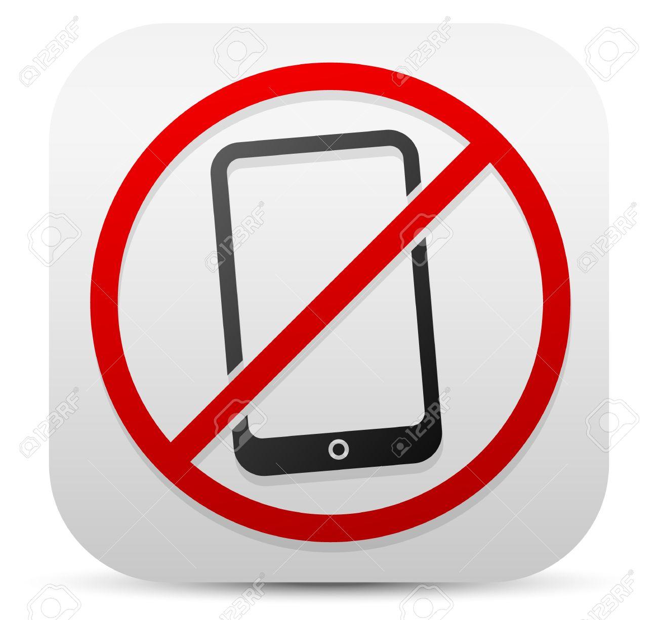 Smartphone Und Probitive Zeichen. Schalten Sie Mobiltelefone, Handy ...