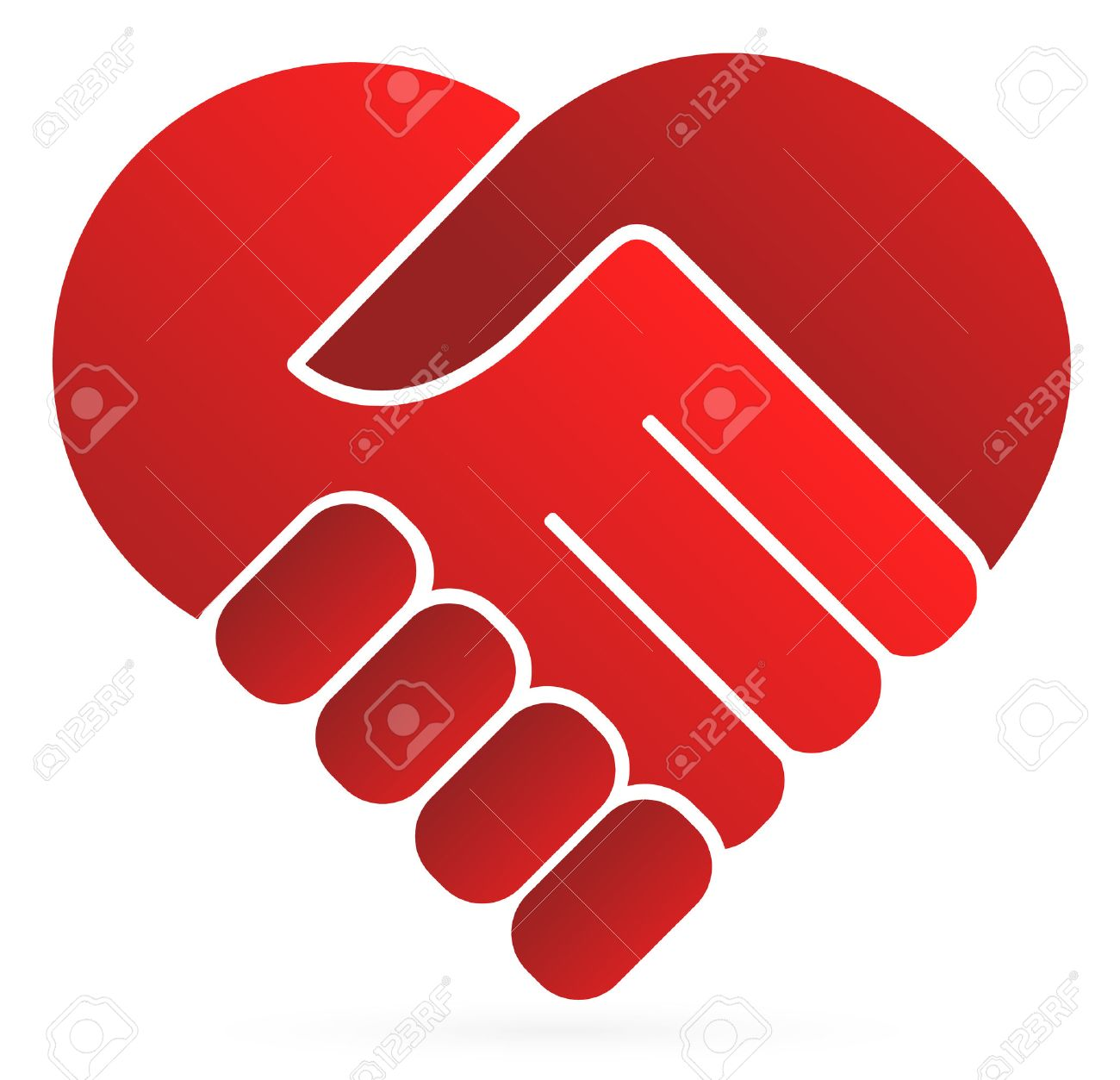 Kindness stock photos royalty free business images handshake symbol forming a heart buycottarizona