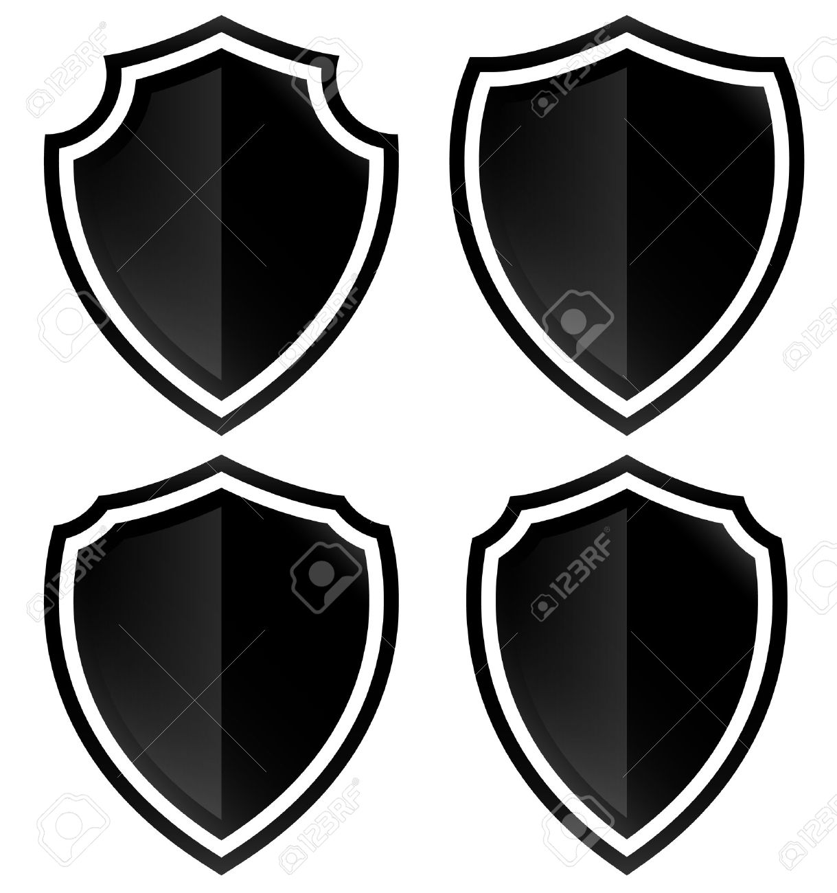 Different Shield Shapes Stock Vector