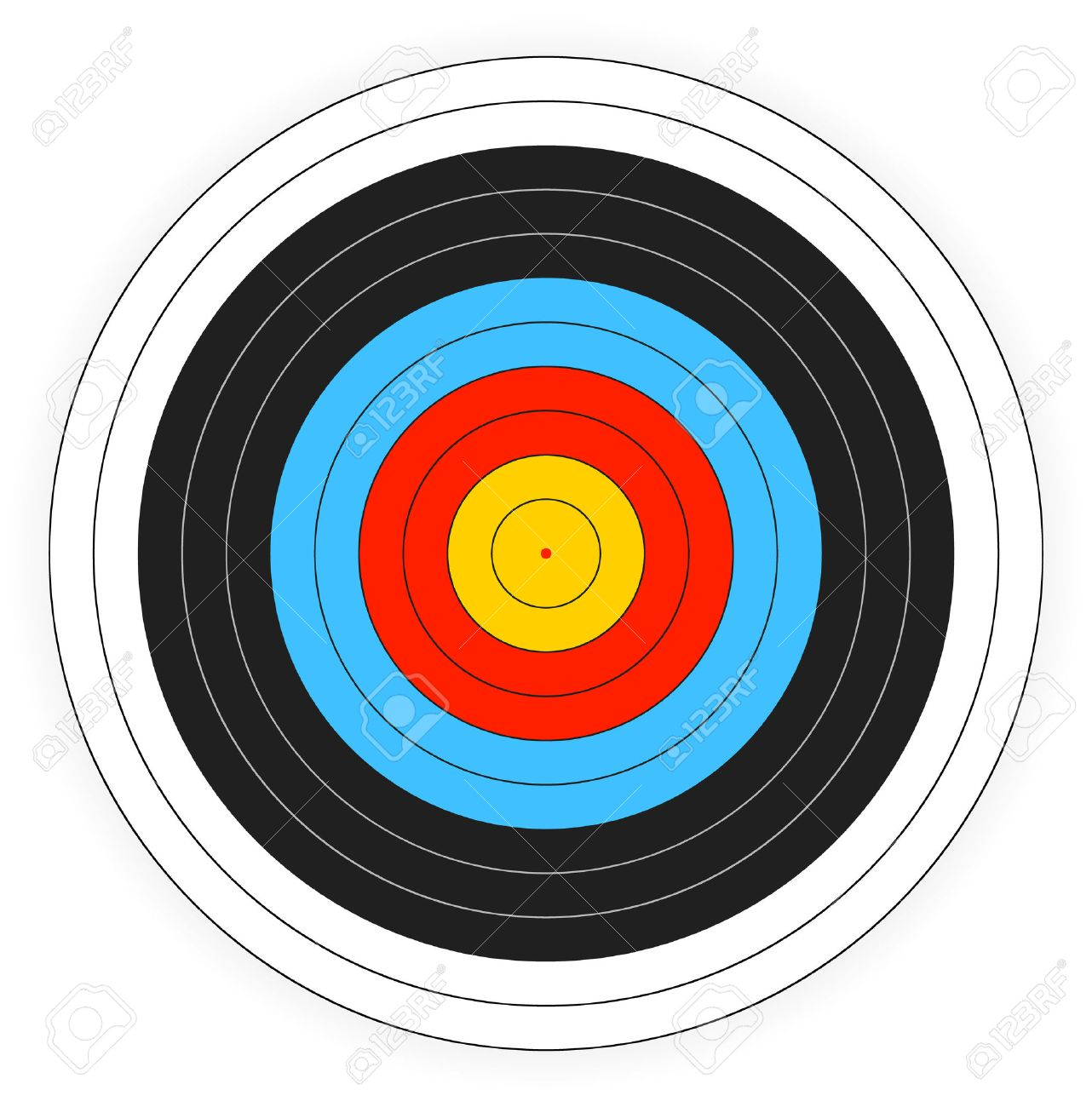picture regarding Printable Bullseye Target called Printable archery aim historical past.