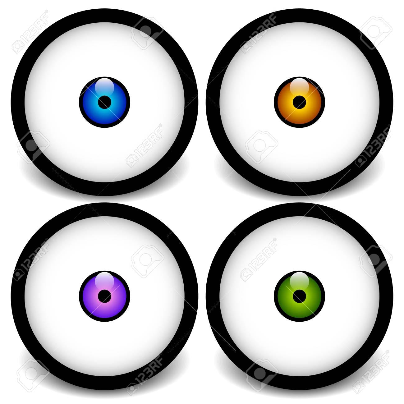 stylized eyeball icons graphics royalty free cliparts vectors and rh 123rf com free vector eyeball eyeball vector png