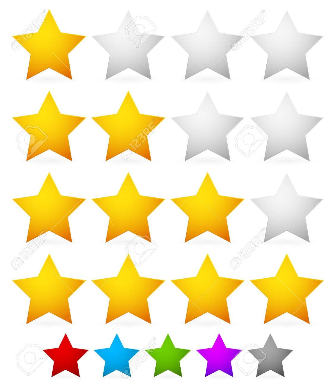 vector illustration of a star rating system with 4 stars royalty rh 123rf com vector stars and stripes vector stars and stripes