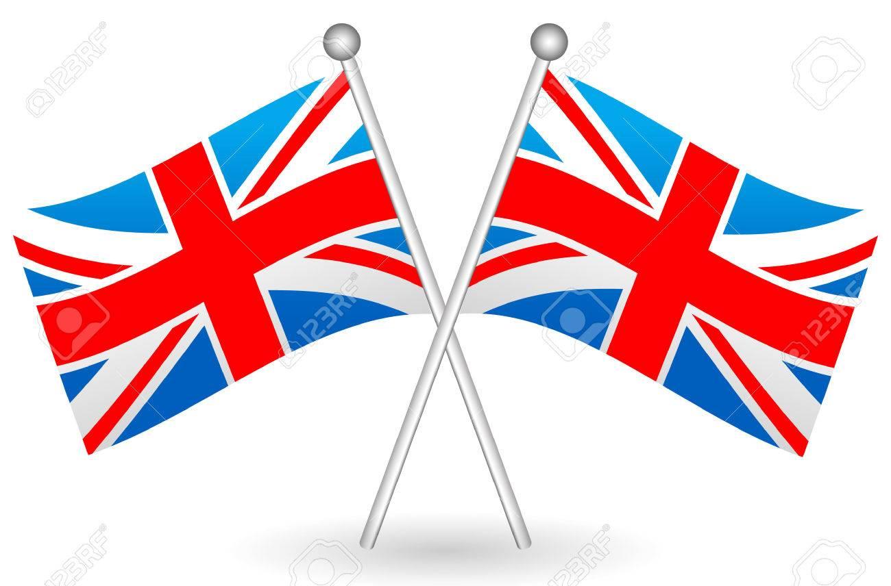 ベクトルの交差イギリス フラグのイラスト。英国旗をベクトルします