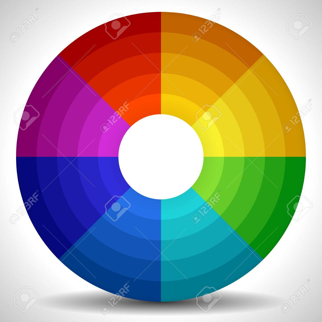 Vector Illustration Of A Circular Color Wheel Palette Stock