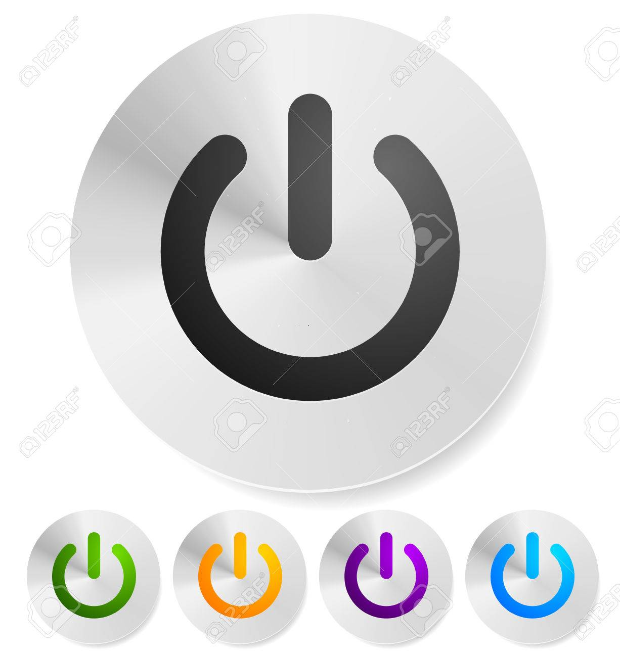 Power Button Power Symbol Vector Graphics Royalty Free Cliparts