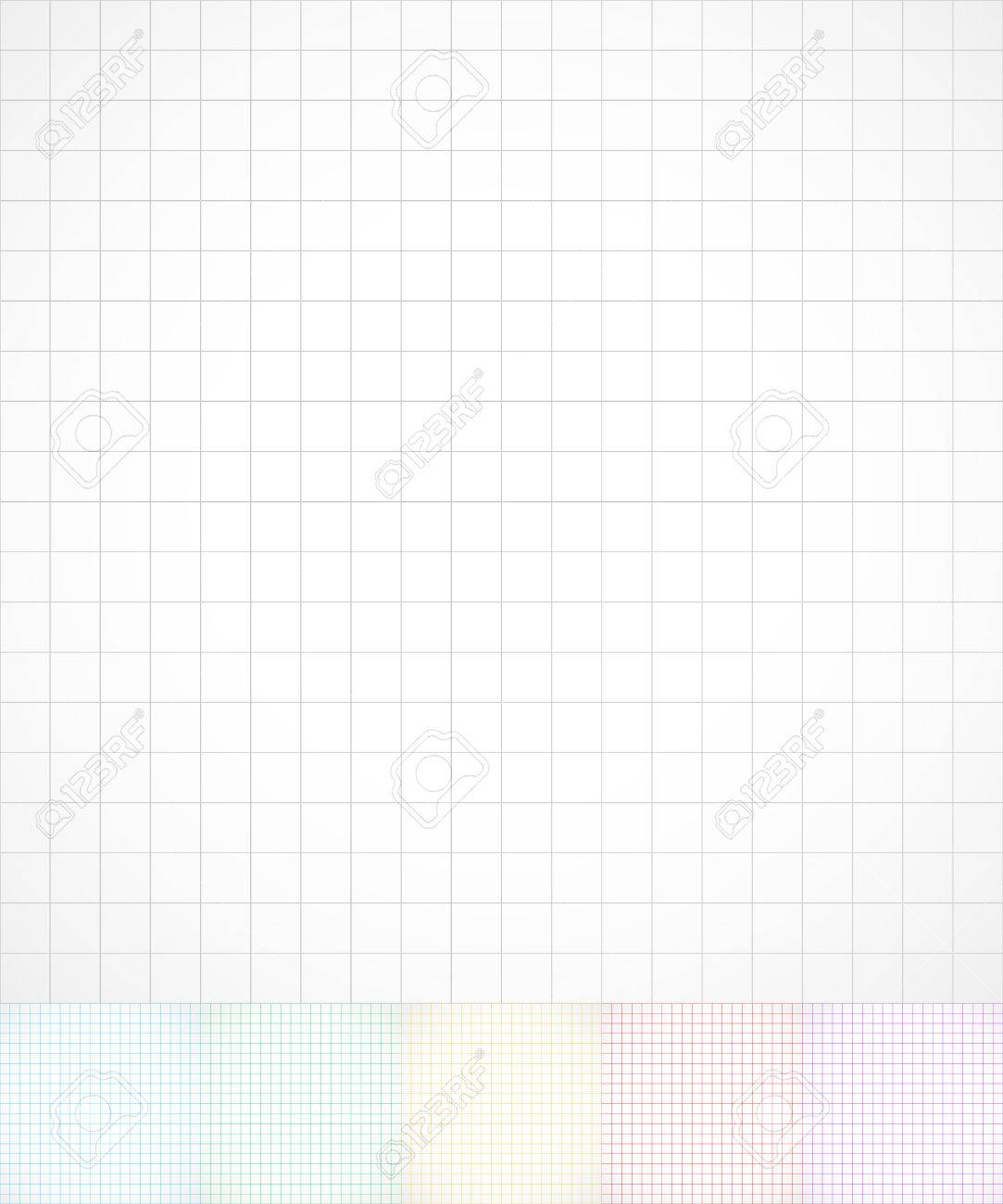 gridded wire frame paper graph paper background in 6 color