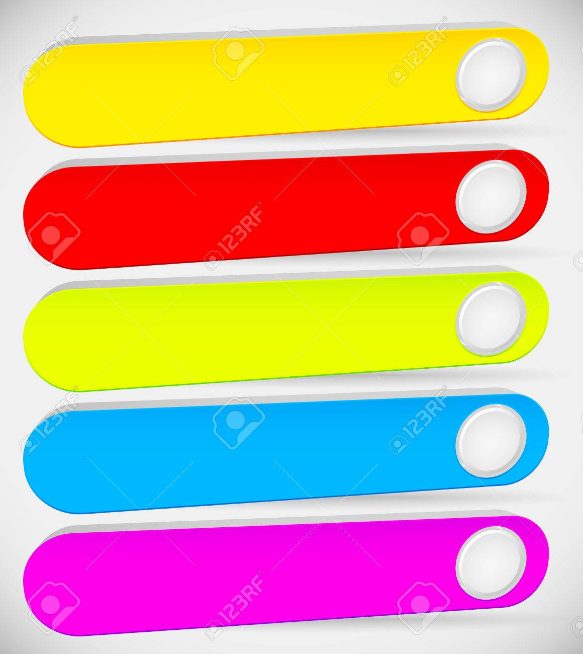 Colorful (long) Button, Banner Backgrounds With Circle. Empty ...
