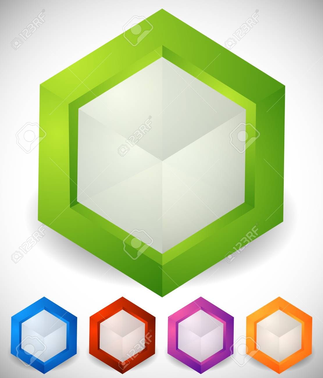 Abstract Isometric Cube Icons  Generic, Modern Vector Icons