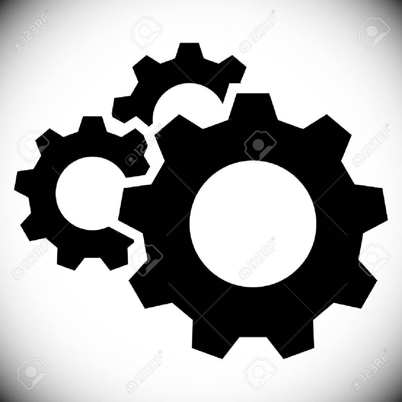 Gears, gear wheels, cog wheels on white - 48275031